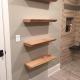 Live edge sycamore shelves